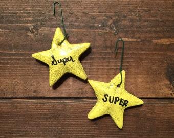 Super Star salt dough ornaments