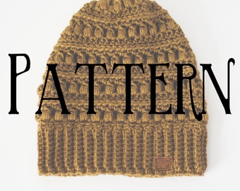 PATTERN | Textured Slouchy Beanie | The Fiona | Crochet Hat