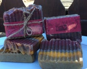 Herbal blend All Natural Handmade Goat milk soap with exfoliating oatmeal, , handcrafted, great cleaning and good sudsing