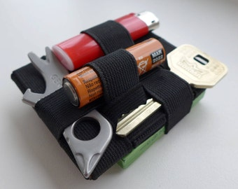 Square EDC / USB flashdrive pocket organizer