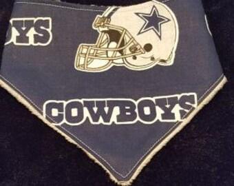 Dallas Cowboy bavoir Bandana avec support en Minky