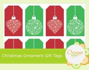 Christmas Ornament Gift Tags - Christmas Gift Tags