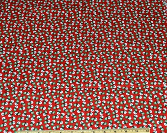 SNOWMEN - SNOWFOLK FABRIC! By The Half Yard For Quilting / Christmas - Holiday Decor