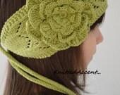 Headband With Flower, Summer Headband, Cotton Headband, Handmade Headband