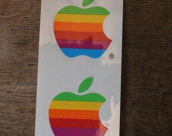 Rainbow 6 Color Apple Logo Sticker
