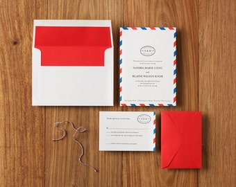 Custom Letterpress Wedding Invitations, Deposit Only