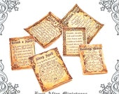 6 MAGIC SPELL Miniature Scroll Set #2 – 1:12 Readable Dollhouse Miniature Magic Spell Scroll - Wizard Witch Magic Scroll Printable DOWNLOAD