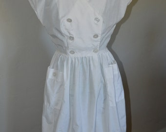 1950's white nurse uniform