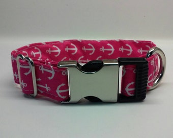 Hot Pink Anchor collar