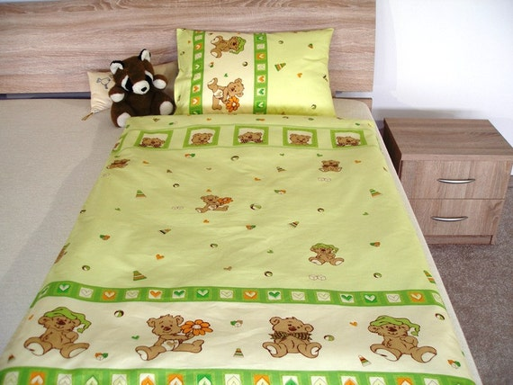 items similar to duvet cover green green duvet cover with. Black Bedroom Furniture Sets. Home Design Ideas