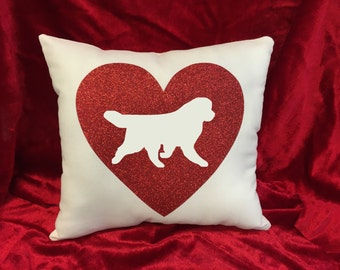 Newfoundland Dog Throw Pillow.  Great gift for the Newfoundland dog lover!