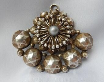 Old Pendant Metal Art Nouveau Argenter