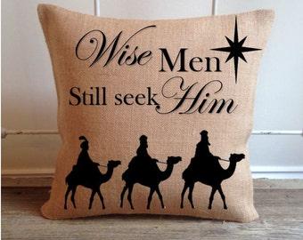 Wise Men still seek Him pillow cover/ Christmas pillow cover/ Christmas