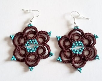 Lace tatting - Collection Anna Lisa earrings