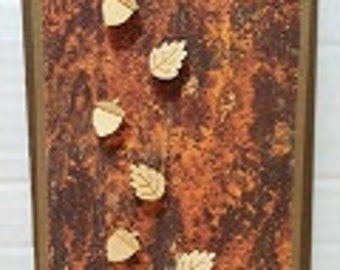 Fall Acorn and Leaf Greeting card