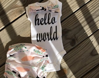 Beautiful Baby Girl Diaper Cover Size Newborn- 24 Mths