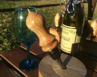 Custom Hand Turned Chestnut Oak Bottle Stopper #004
