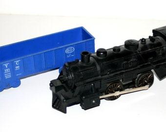 Vintage MARX O-Gauge Non-working Steam Engine and Gondola Trains