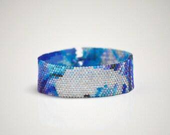 Angel Wing Blue Sky Bracelet - Thin Cuff