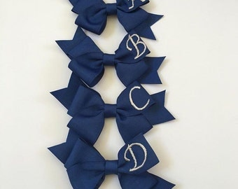 Initail Embroidered Bows