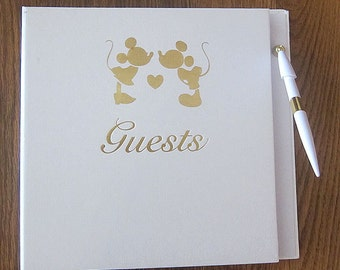 Large Mickey Minnie Mouse Disney Wedding Guest Book