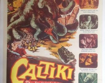 Caltiki Movie Poster Rare