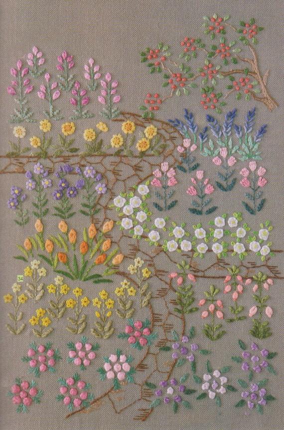 PDF Pattern Tutorial Hand Embroidery Stitch My Garden 001
