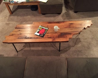 Reclaimed Barn Wood Tennessee Table