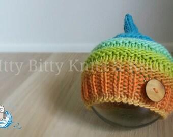 Knitted Goblin Hat, Guppy