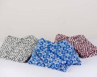 Latvian Scarf, Lielvardes Salle, Made in Latvia, Nordic Scarf, Scandinavian Design, From Latvia, Latvia Team, Knit Infinity Scarf - Unisex