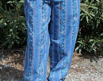 Collection 2016, pants wide-cut, light cotton trousers,