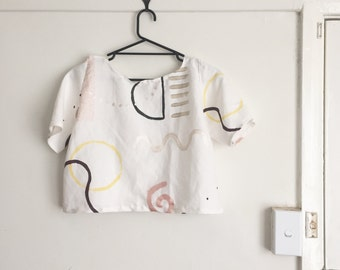 Hand painted patterned shirt