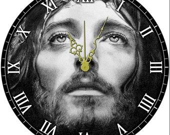 "Face of Jesus 12"" wall clock"