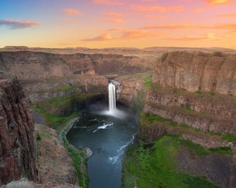 Palouse Falls, Waterfall and Landscape Photography - Fine Art Print by Meleah Reardon