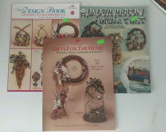Vintage 1990's Craft Instruction Books Florals Wreaths More