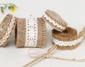 1 yard Cotton Ribbon Sewing Tape Label Print Ribbon Label-Hemp Rope, R071