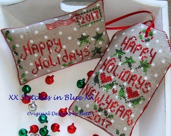 Happy Holidays, Label and Cushion Envelope