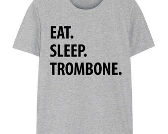Trombone T-Shirt, Eat Sleep Trombone shirt Mens Womens Gifts - 1084