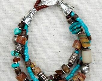 blue beaded jewelry