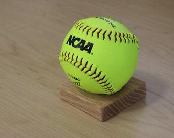 Wooden Softball Display Stand
