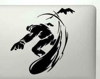 Snowboarding Sticker Etsy - Custom die cut vinyl stickers snowboard