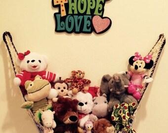Stuffed animal storage, child's room organizer, playroom organizer, stuffed animal organizer, stuffed animals