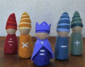 Waldorf Inspired Math Gnomes ~ Needle Felted