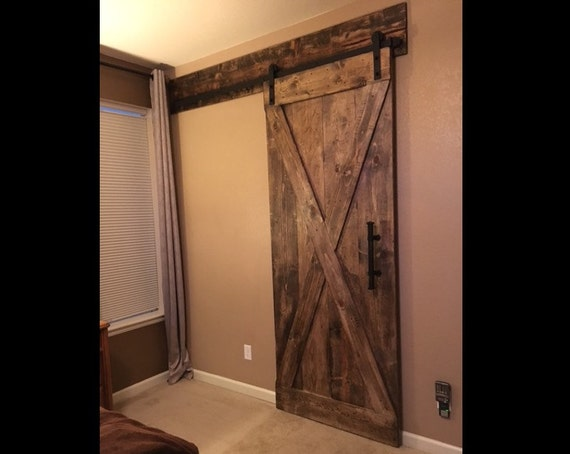 barn door header customize to your size With barn door with header