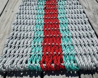 3 Color Lobster Rope Mat - Choose your colors