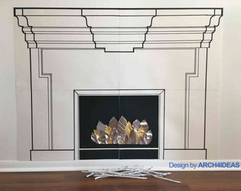 Decorative Paper Fireplace RELAX