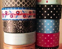 Washi tapes mixed sizes floral geometric