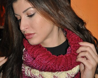 hand-knitted winter scarf