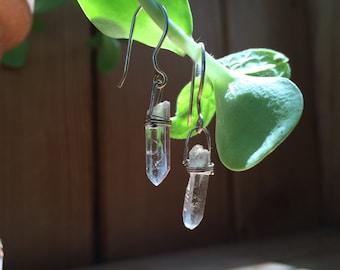 Quartz Dangle Earrings