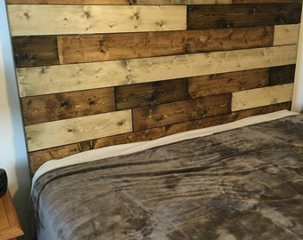 Barnwood Headboard , Farmstyle, Rustic, Current Furniture, custom made, Multiboard pattern